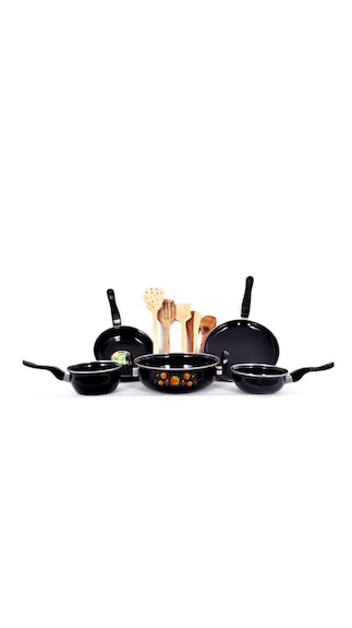 Premium Quality 5 pc Cookware set with Wooden Kitchen tool