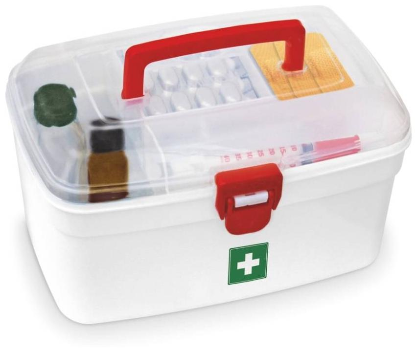 Milton Medical Box - 2500 ml Plastic Utility Box (White)