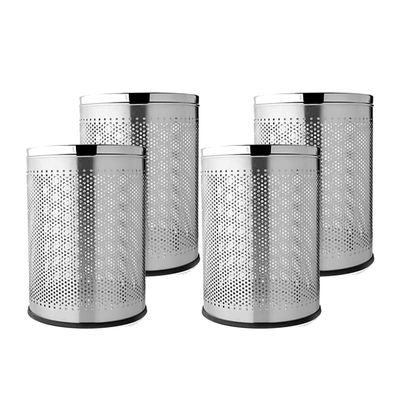 Mintage Dust Bin Set of 4 ( 8 x 12 Stainless steel ) By Homegenic