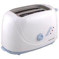 Morphy Richards AT204 2 Slice Pop Up Toaster (White & Sky Blue)