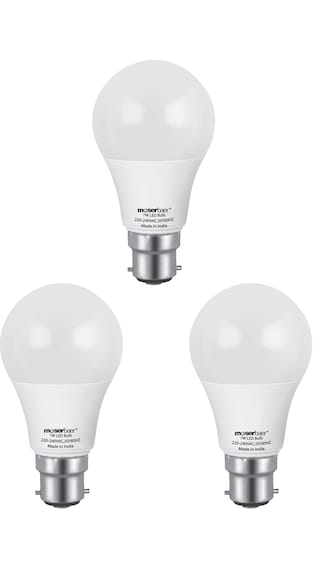 Moserbaer-7W-ECO-LED-Bulb-(White,-Pack-of-3)