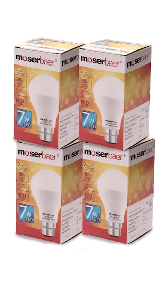 Moserbaer-7W-ECO-LED-Bulb-(White,-Pack-of-4)