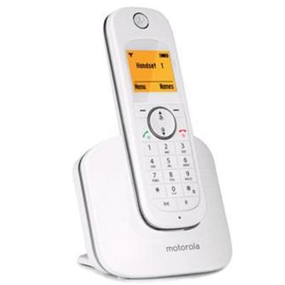 MOTOROLA CORDLESS TELEPHONE D1001 I WHITE SILVER