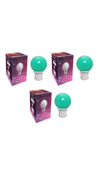 0.5W-LED-Bulbs-(Green,-Pack-of-3)