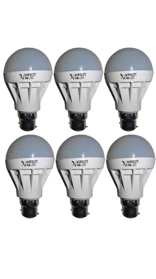Novelty-7W-B22-LED-Bulb-(White,-Set-Of-6)