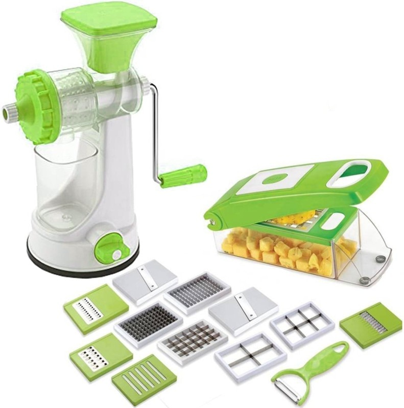 ONE8D Combo Deluxe Fruit Juicer with 12 in 1 Chipser /Chopper