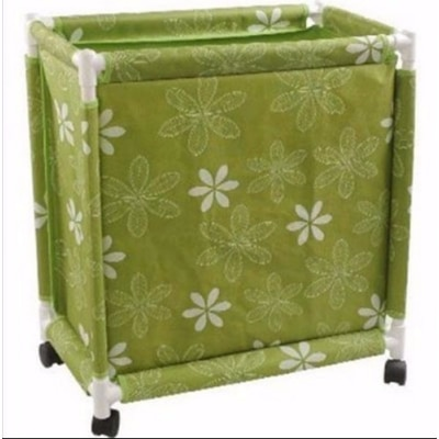 PackNBUY BLUE Trolley Laundry Basket with Wheels
