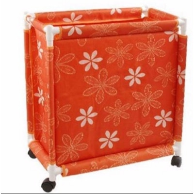 PackNBUY ORANGE Trolley Laundry Basket with Wheels