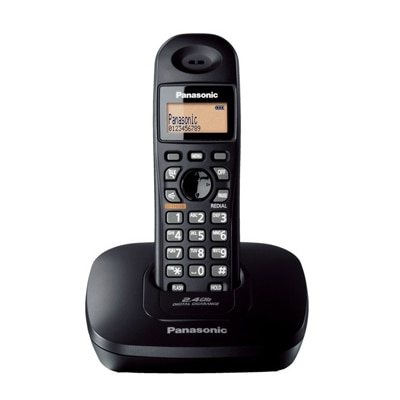 Panasonic Kx-Tg3611-Sxb Cordless Landline Phone (Black)