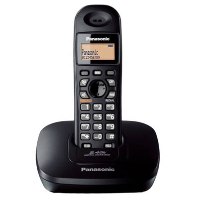 Panasonic Kx-Tg3411Sx Cordless Landline Phone (Black)