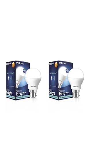7W And 10.5W LED Bulb (White, Pack Of 2)