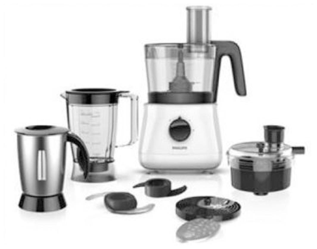 Philips HL1661 700 W Food Processor (Black;White)