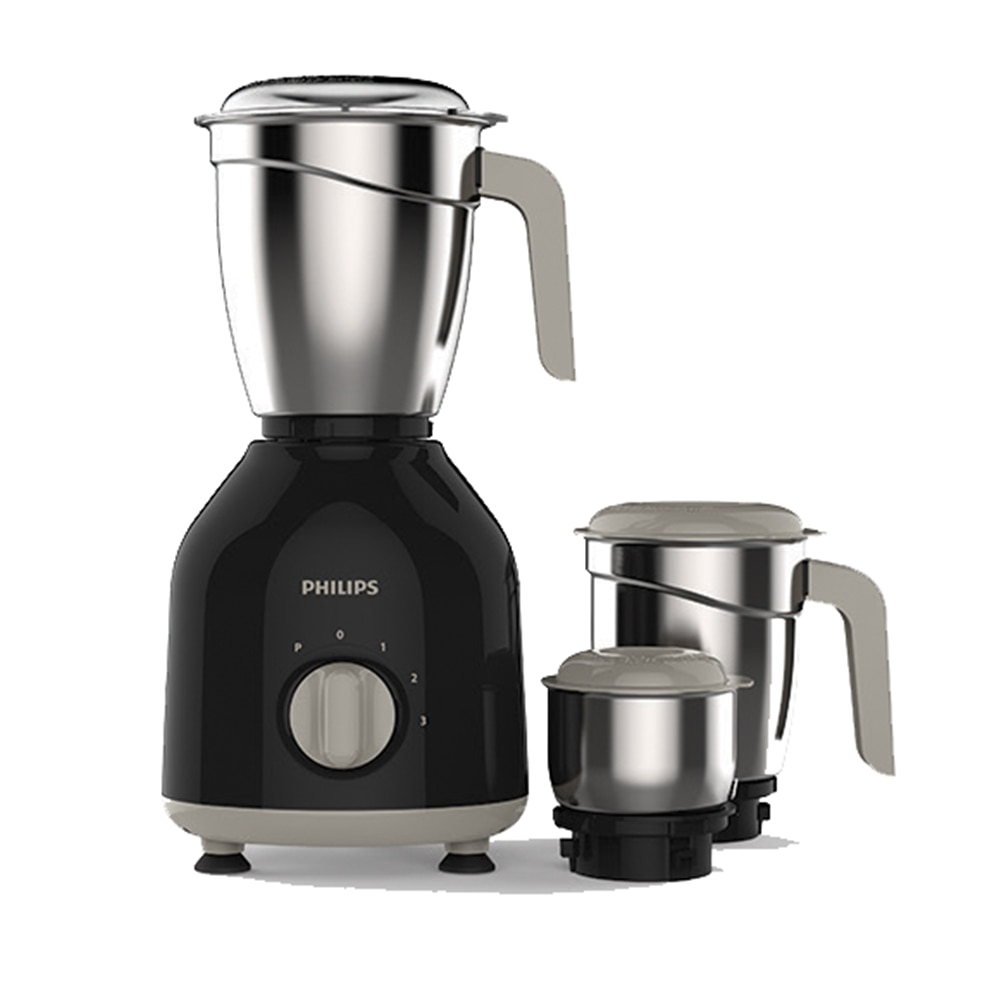 Philips HL7756/00 750 W Mixer Grinder (Black/3 Jar)