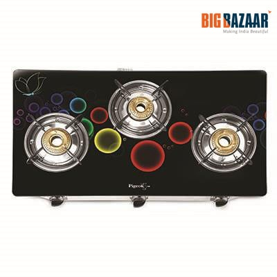 Pigeon Blackline Smart Plus 3 Burner Gas Stove