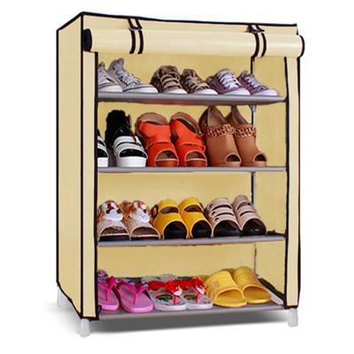 Pindia Portable 4 Layer Home Shoe Rack Organizer
