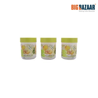 Polyset Abstract Lemon Olive SO3 Print Container 3 Pcs