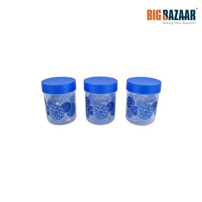 Polyset (FS 699) Abstract Blue Circle Set of 3 Containers