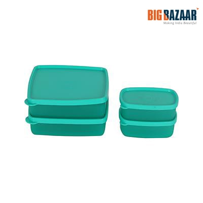 Polyset Magic Seal Food Container (Set of 4) (Green )