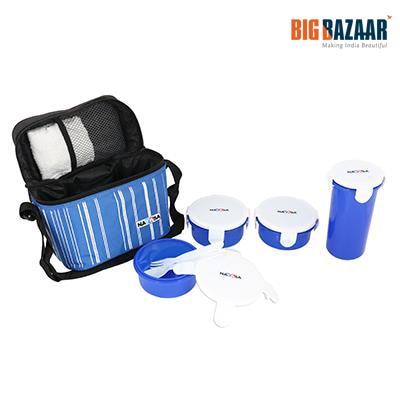 Polyset Nayasa Lunch Box with Containers (Blue)