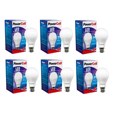 Powercell 9w Cool Day Light 6500k Pack Of 6 Led Bulb