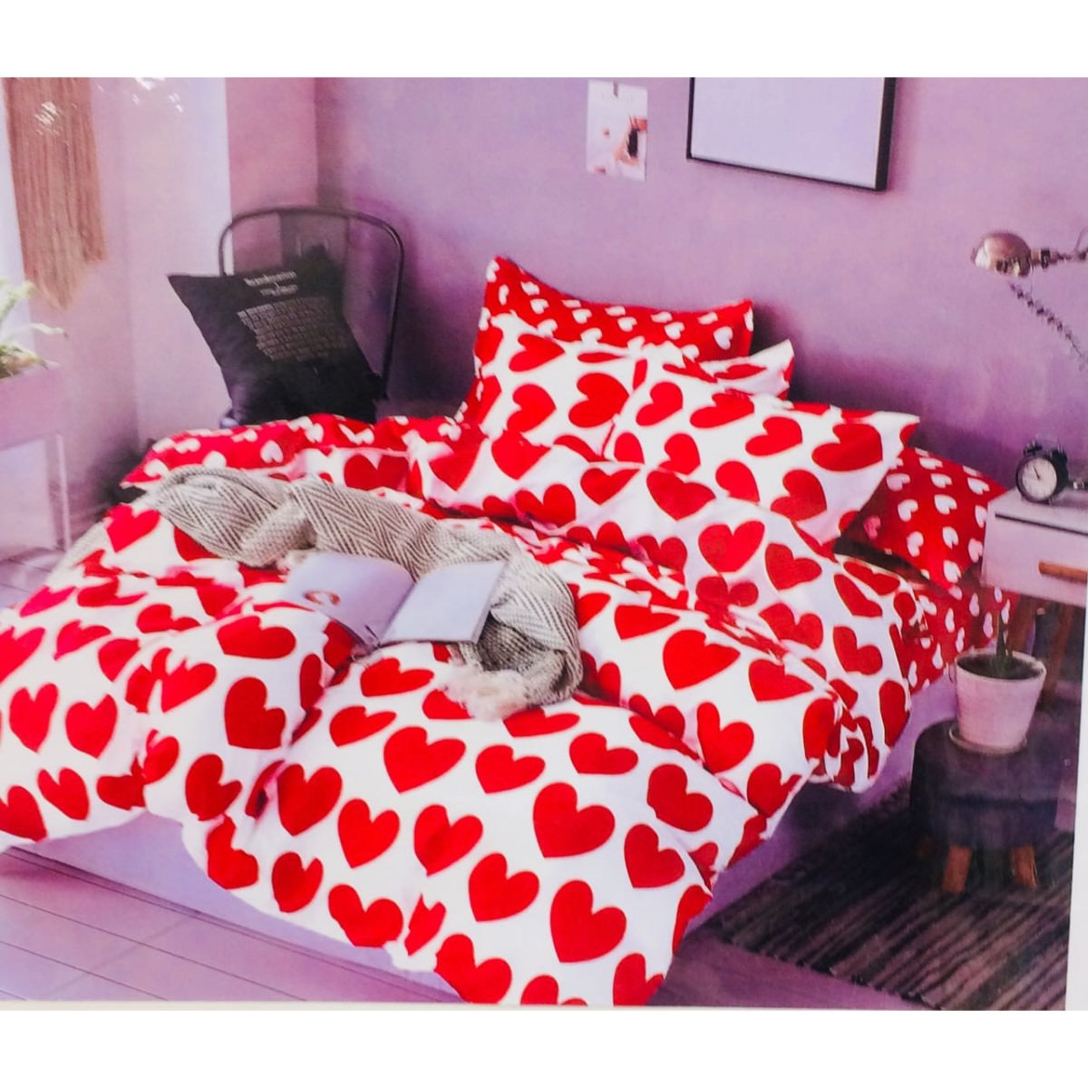 Premium Double Bed Cotton Bedsheet with 2 Pillow Covers