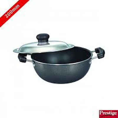 Prestige Omega Select Plus Non-Stick Flat Base Kadhai With Lid-2