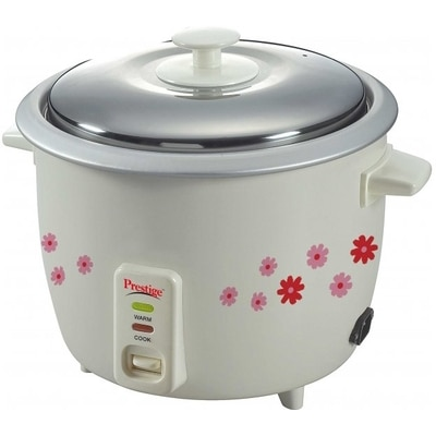 Prestige PRWO 1.8-2 1.8 L Rice Cooker (White)