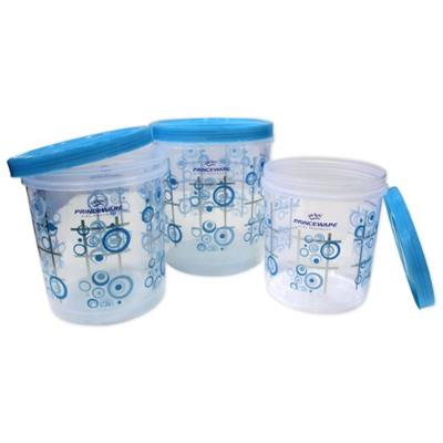 Princeware Plastic Twister Package Container Set Of 3