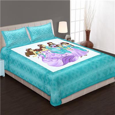 Priya Fashions Cotton Printed King Size Bedseet With 2 Pillow Covers