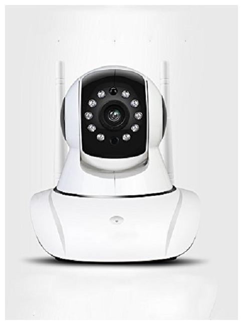 ProElite IP01A WiFi Wireless HD IP Security Camera CCTV WHITE Supports Upto 128 GB SD Card Dual Antenna