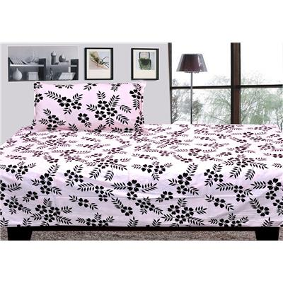 Pure Cotton Single Bed Sheet With 1 Pillow Cover
