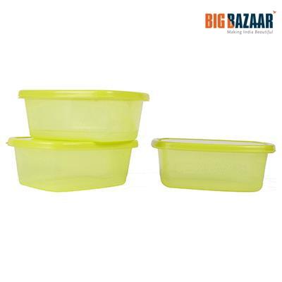 Ratan 3 Pcs Container Set (Green)