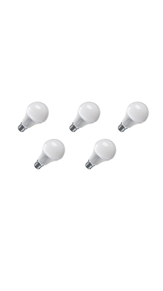 High-Quality-9W-LED-Bulb-(White,-Pack-Of-5)