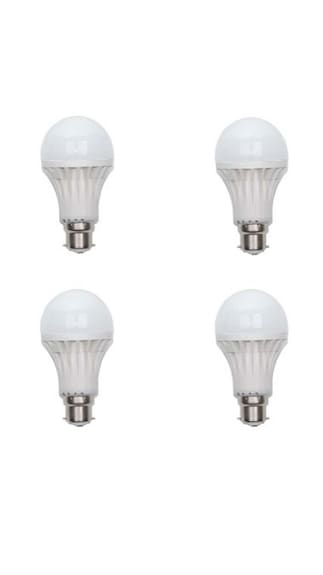 12W B22 LED Bulb (White, Pack Of 4)