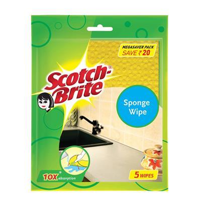 Scotch-Brite Sponge Wipe (Large) (Pack of 5)