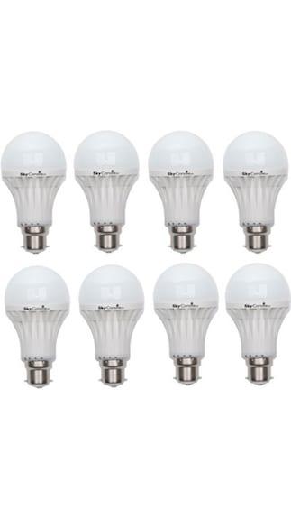 15W B22 LED Bulb (White, Pack Of 8)