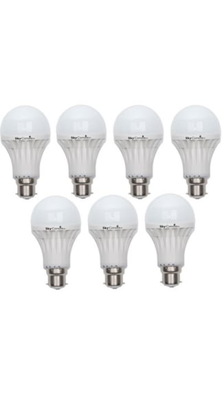 Skycandle-3W-B22-LED-Bulb-(White,-Pack-Of-7)