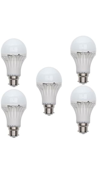5W-B22-LED-Bulb-(White,-Pack-Of-5)