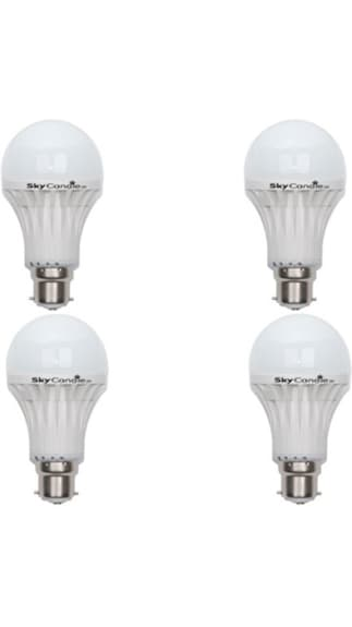Skycandle-5W-B22-LED-Bulb-(White,-Pack-Of-4)