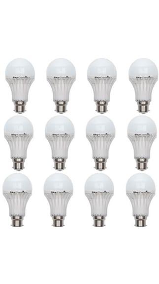 5W-B22-LED-Bulb-(White,-Pack-Of-12)