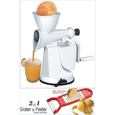 SM Kitchen Combo Standard Fruit Juicer With Free 2 In 1 Peeler Cum Grater