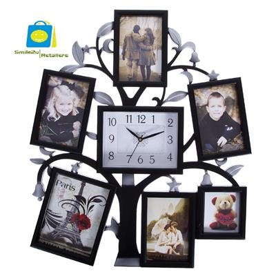 Smile2u Retailers Wall clock with photo frame