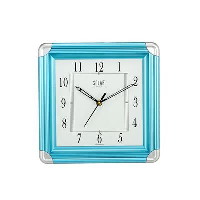 Solar Simple 10 inch Plastic Wall Clock - Aquamarine