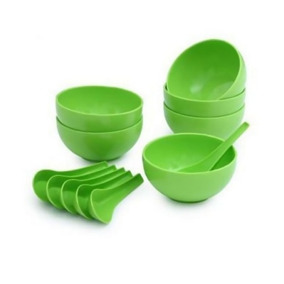SOUP BOWL SET OF 12  (6 SPOON & 6 BOWL )