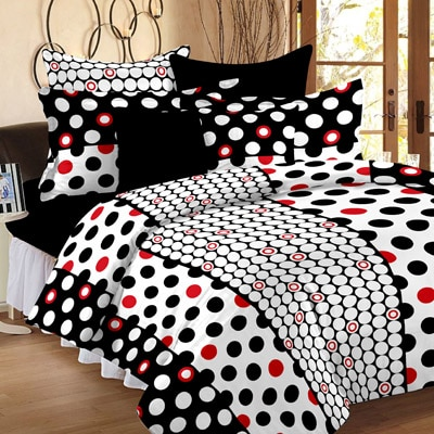 Story@Home White 100% Cotton Double Bedsheet with 2 Pillow Covers