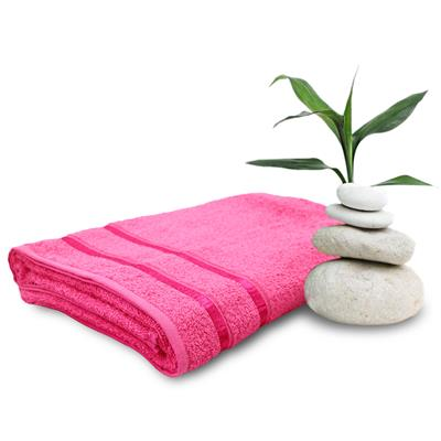 Story@Home Pink Cotton 1 Pc Bath Towel