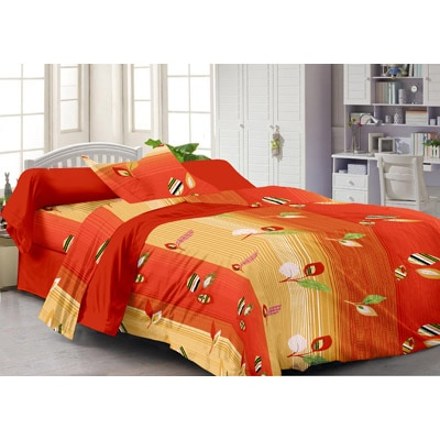 Story@Home Spark Red Cotton Single Bedsheet