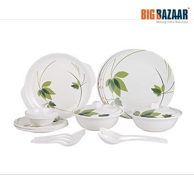 Style-On Geen Field 23 Pcs Melamine White Dinner Set