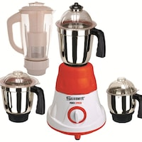 Sunmeet MG16-40 600 W Juicer Mixer Grinder (Red/4 Jars)