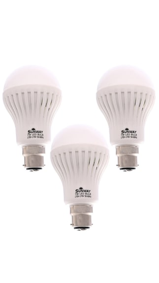 7W LED Bulb (White, Pack of 3)
